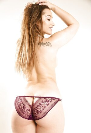 Comely kittens don't feel shy baring boobs and additionally butt cheeks in XXX photoshoot