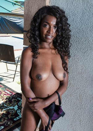 Daya Knight prefers purple underwear and moreover exceptionally she loves taking it off