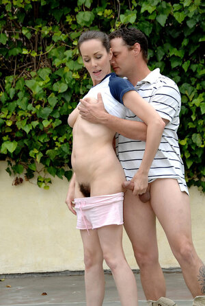 Tennis player in pink shorts has bushy snatch nailed and plus face jizzed